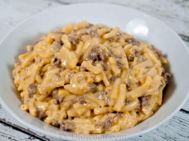 cheesy meaty mac and cheese