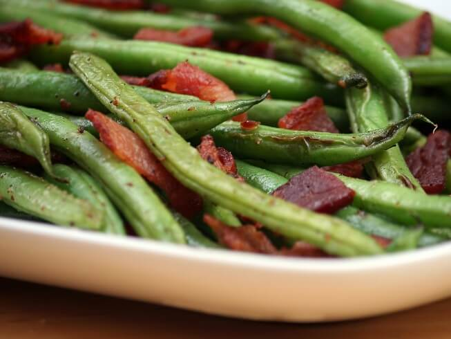 Green Beans With Bacon, Shallots And Cider Vinegar Recipe | CDKitchen ...
