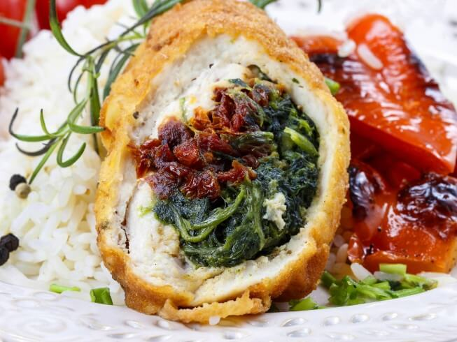 Crock Pot Stuffed Chicken Breast With Feta, Spinach, And Tomatoes ...