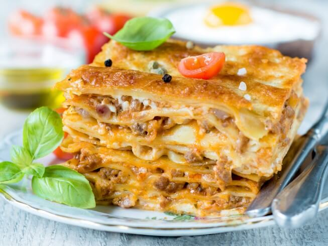 "great way to ""lighten up"" your lasagna is to use ground turkey in ..."