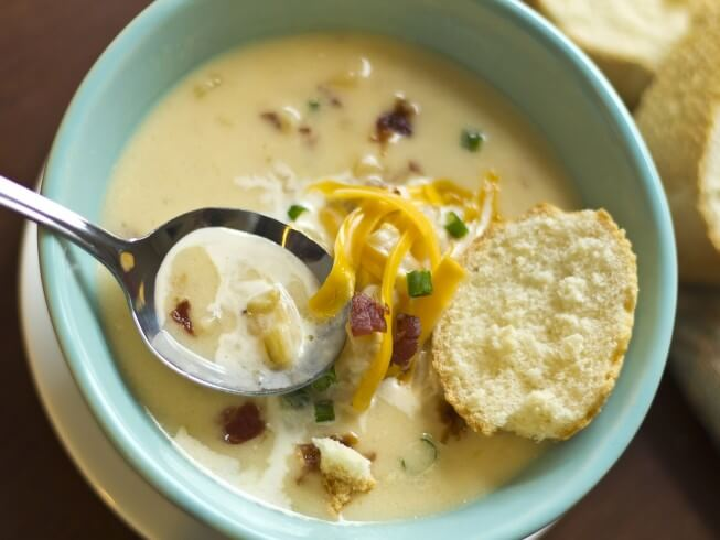 Bob Evans Cheddar Baked Potato Soup Recipe | CDKitchen.com