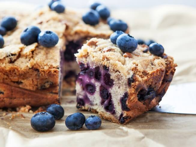 Blueberry Oatmeal Breakfast Cake Recipe | CDKitchen.com