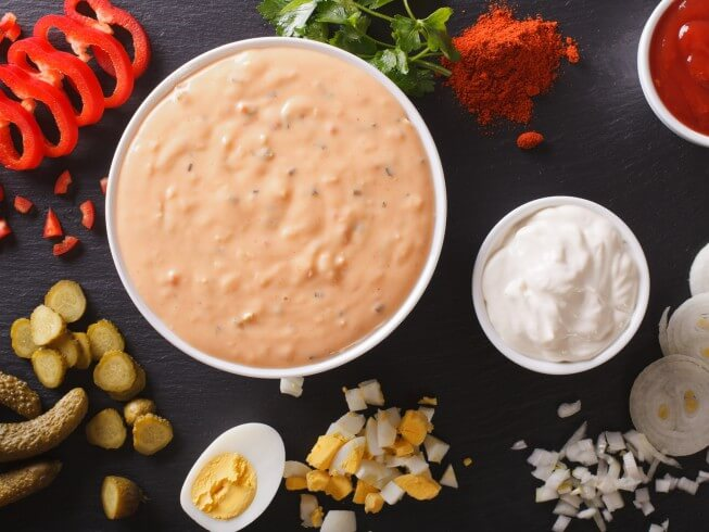 Thousand Island Salad Dressing With Hard Boiled Egg Recipe From