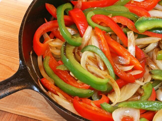 Green Pepper And Onion Skillet