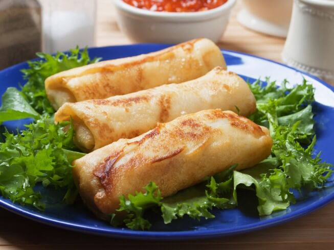 Homemade Egg Roll Wrappers Recipe Cdkitchen Com