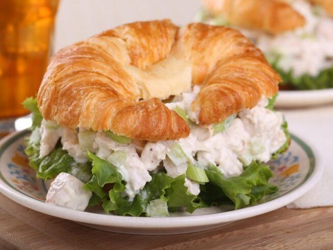Easy Chicken Salad Sandwiches Recipe Cdkitchen Com