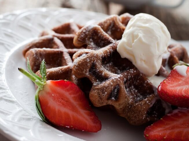 Tiramisu Waffles Recipe | CDKitchen.com