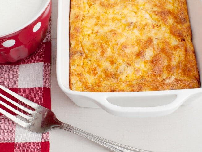 photo of oven scrambled egg and cheese bake