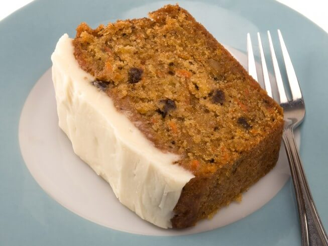Low Fat Cake Mix Recipes: Eggless, Sugar-Free Carrot Cake With Sugar-Free Cream