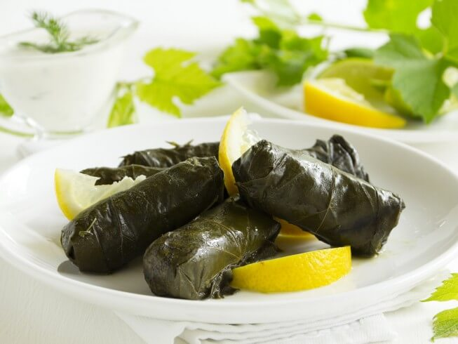 Dolmas Greek Stuffed Grape Leaves Recipe Cdkitchen Com