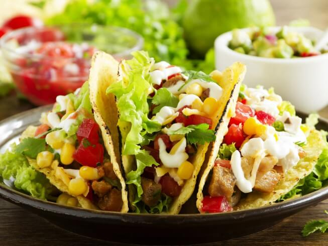 Chicken Tacos With Corn And Black Beans Recipe from CDKitchen