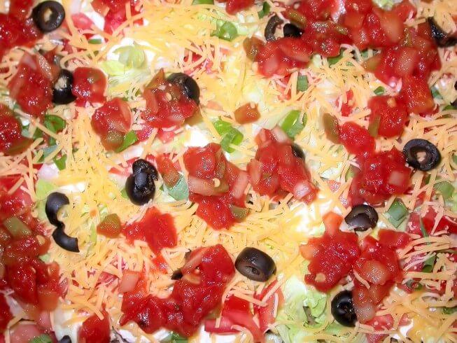 photo of Seven Layer Taco Dip