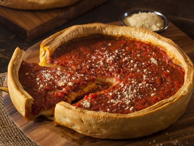 Copycat Godfather's Chicago-Style Deep-Dish Pizza Recipe | CDKitchen ...
