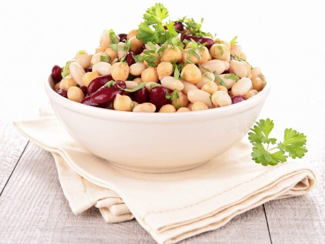 Kidney Bean and Chick-Pea Salad