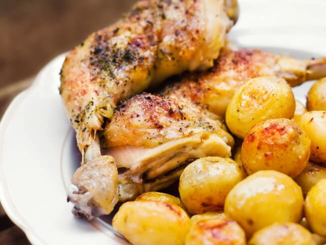 Skillet Chicken Dinner Recipe | CDKitchen.com