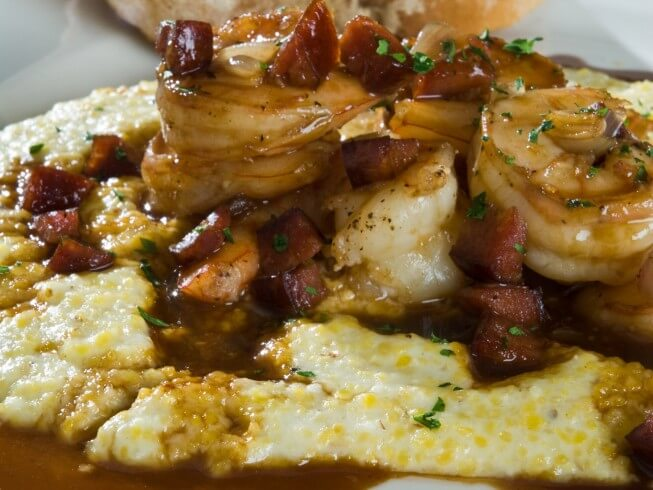 Low Country Shrimp And Grits With Bacon Gravy Recipe from CDKitchen ...