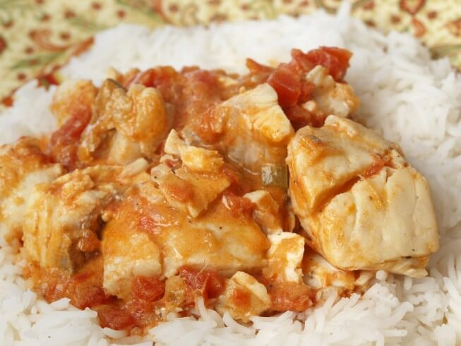 Spicy crock pot jamaican coconut fish stew recipe from for Slow cooker fish stew