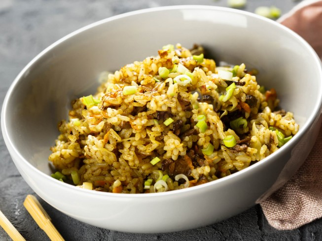Ground Beef Fried Rice Recipe Cdkitchen Com