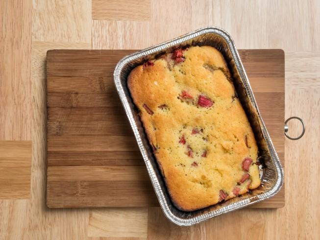 Fabulous Rhubarb Cake Recipe Cdkitchen Com