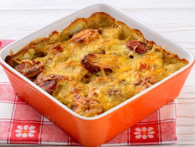 Easy Cheesy Potatoes With Kielbasa
