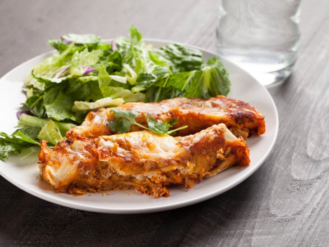 photo of Mexican Fried Chicken Enchiladas