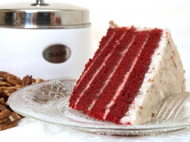 Sylvia S Red Velvet Cake Recipe Cdkitchen Com