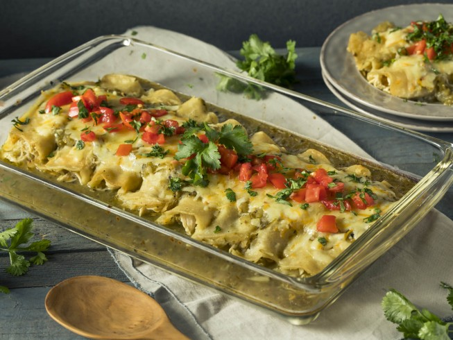 photo of Green Chile Enchiladas With White Queso