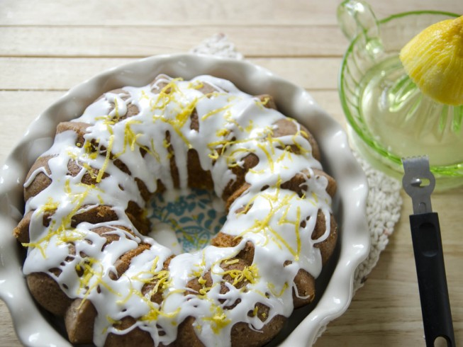 Easy King Cake With Walnuts And Cream Cheese Filling