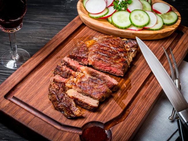 photo of Grilled Rib-Eye Steaks In Korean Marinade