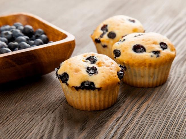 Sugar Free Blueberry Muffins Recipe Cdkitchen Com