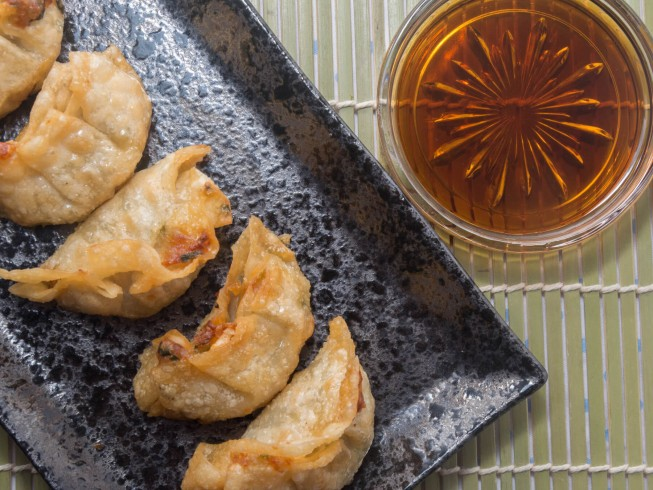Kimi S Pork Gyoza Recipe Cdkitchen Com