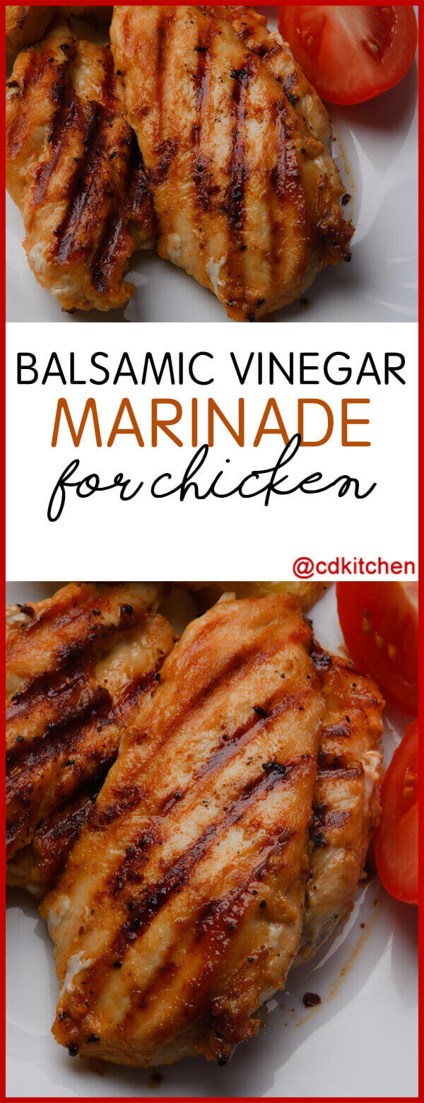 Balsamic Vinegar Marinade for Chicken Recipe | CDKitchen.com