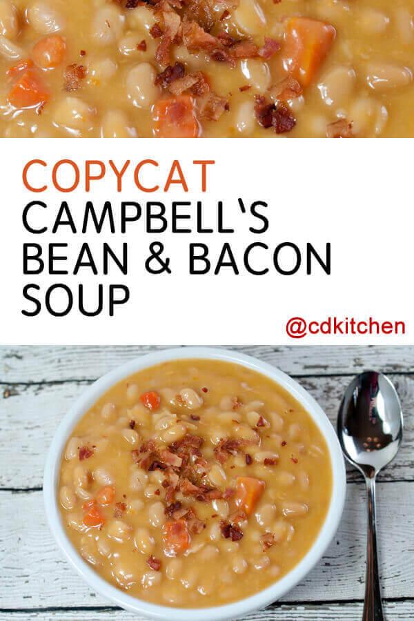 Copycat Campbell S Bean Bacon Soup Recipe Cdkitchen