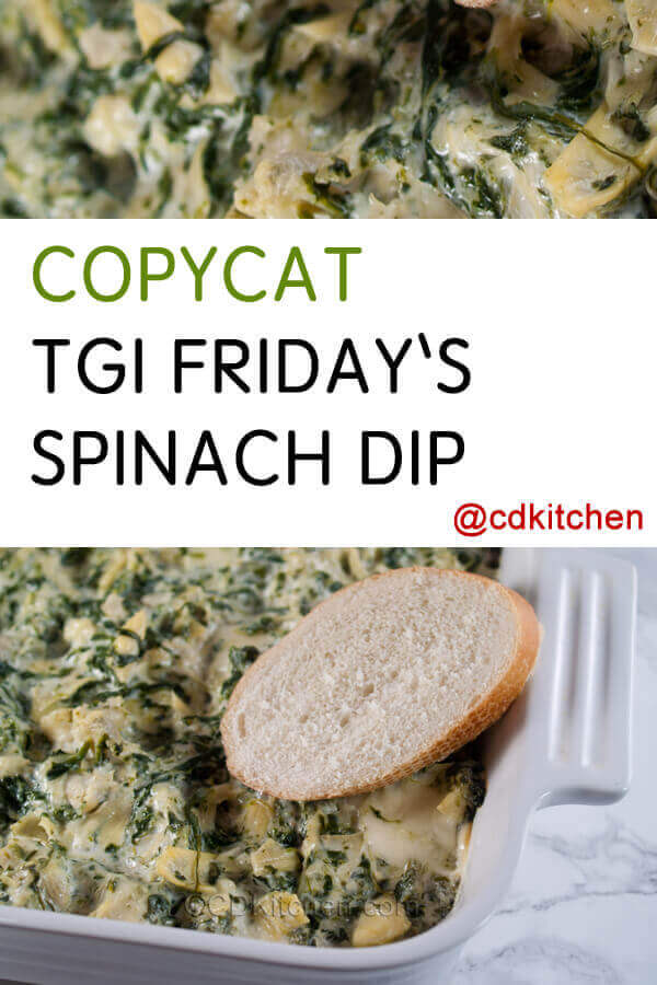Copycat Tgi Friday S Spinach Dip Recipe Cdkitchen Com