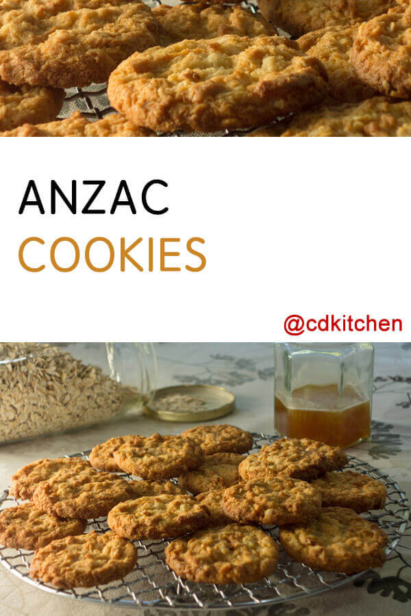 Anzac Cookies Recipe   CDKitchen.com