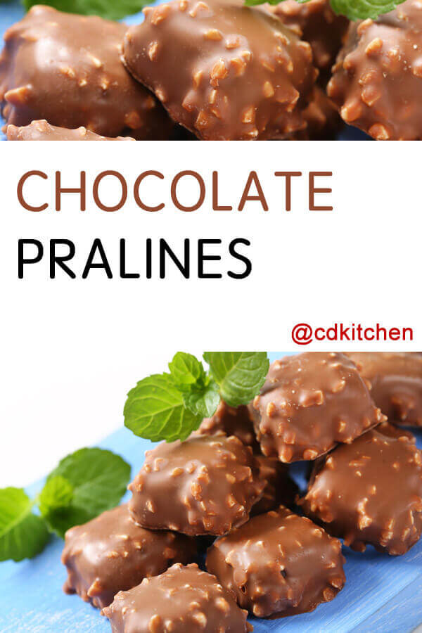 Pecan And Chocolate Pralines Recipe — Dishmaps