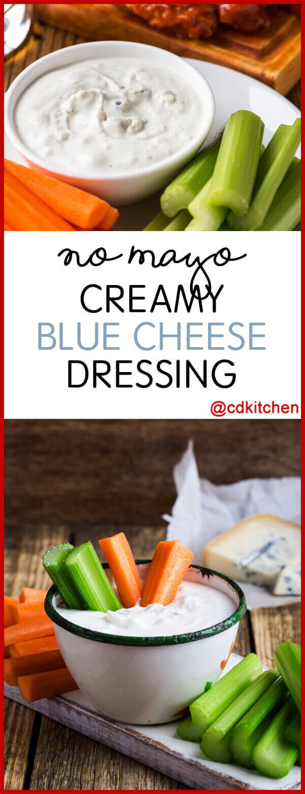 No Mayo Creamy Blue Cheese Dressing Recipe from CDKitchen.com