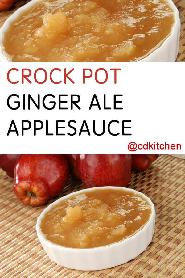 Crock Pot Ginger Ale Applesauce Recipe From Cdkitchen Com