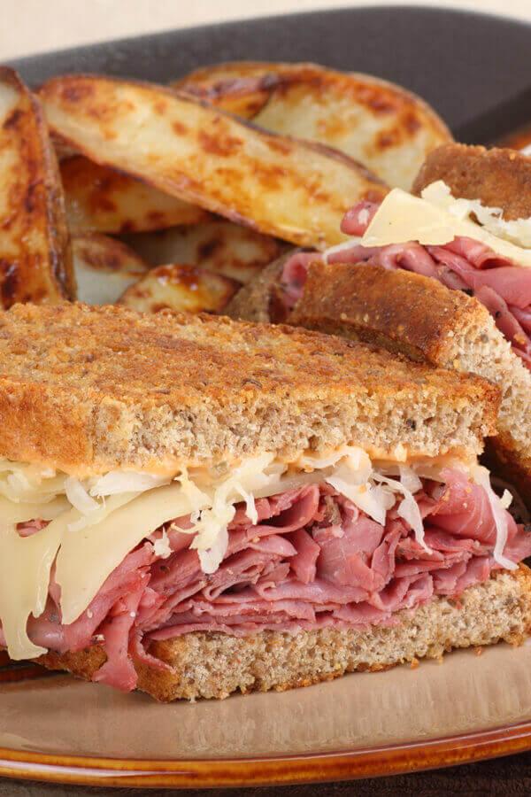 Oven Grilled Reuben Sandwiches Recipe Cdkitchen Com