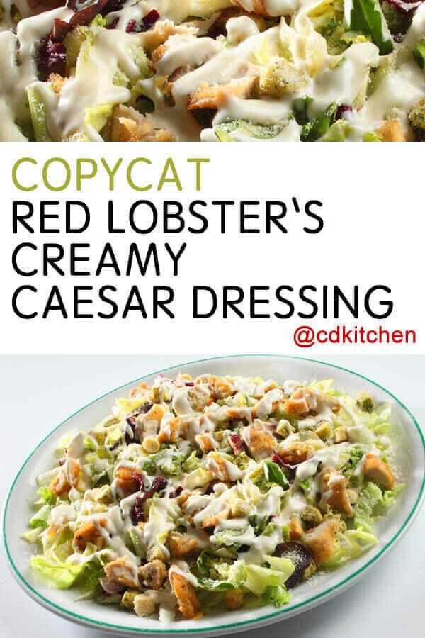 Red lobster caesar dressing nutrition