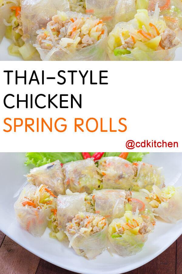 Thai-Style Chicken Spring Rolls Recipe | CDKitchen.com