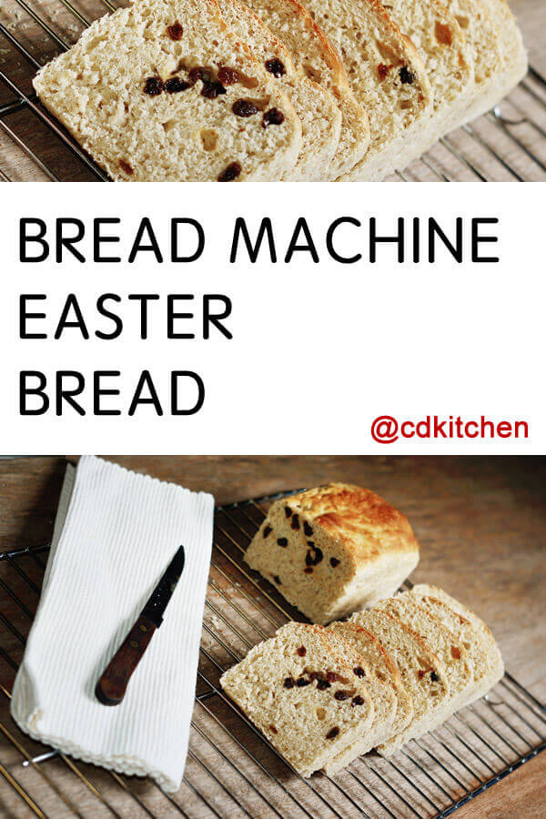 Bread Machine Easter Bread Recipe from CDKitchen.com