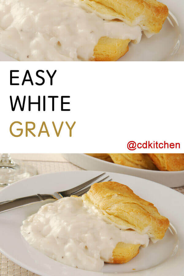Easy White Gravy Recipe | CDKitchen.com