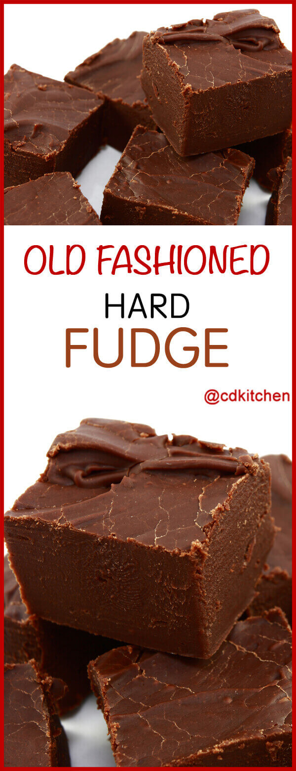 Old Fashioned Hard Fudge Recipe