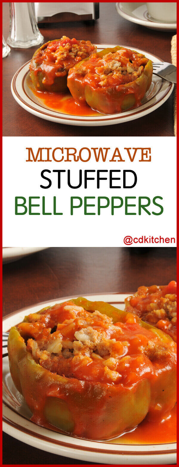 Microwave Stuffed Bell Peppers Recipe Cdkitchen Com