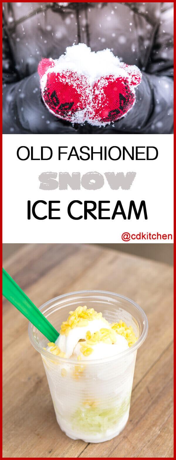 Old Fashioned Snow Ice Cream Recipe Cdkitchen Com