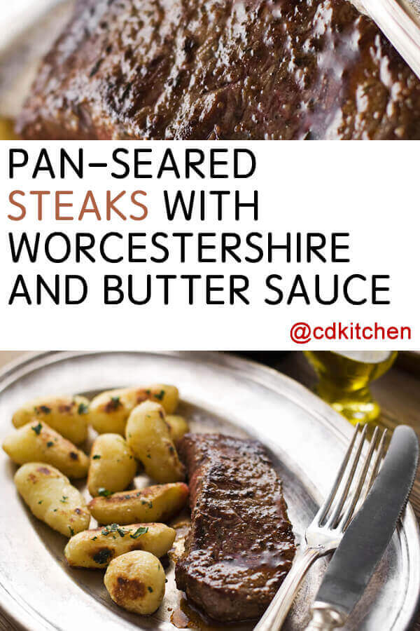 Steak With Shallot, Butter & Balsamic Sauce Recipe — Dishmaps