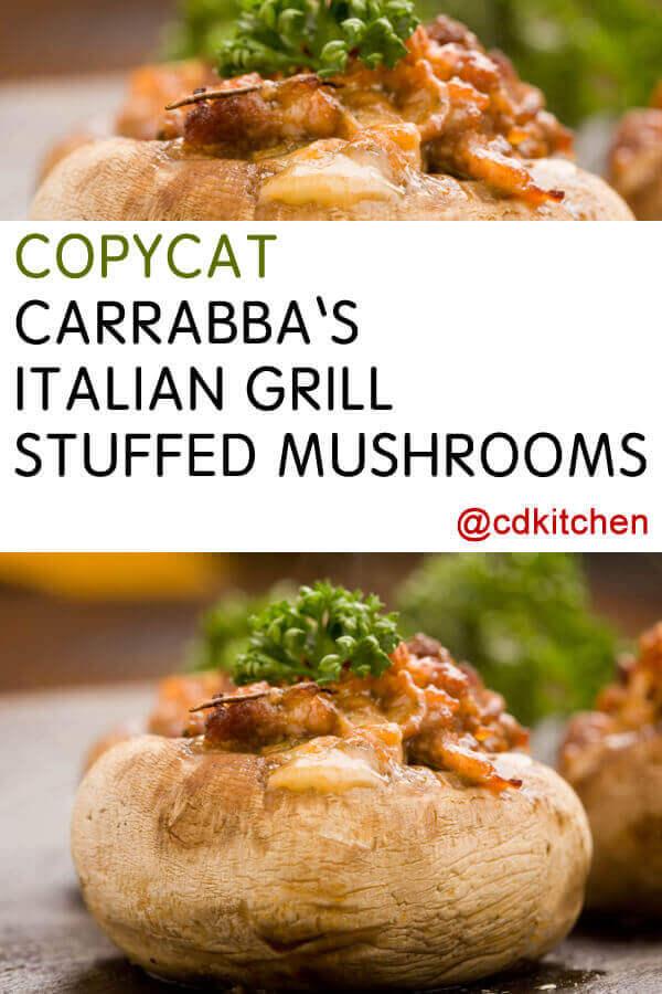 carrabba's italian grill stuffed mushrooms recipe  cdkitchen