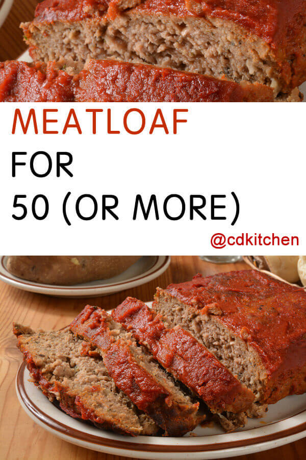 group doesn't have to be difficult. This scalable meatloaf recipe not ...