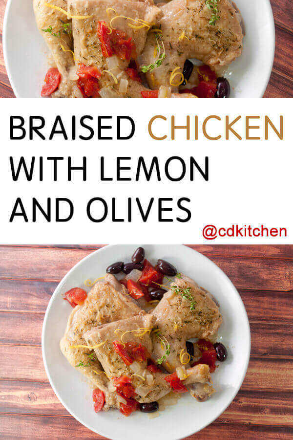 This tender braised chicken has delicious Mediterranean flavors with ...